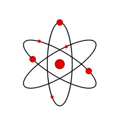 isolated science atom icon vector image