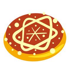 jewish bakery icon cartoon style vector image