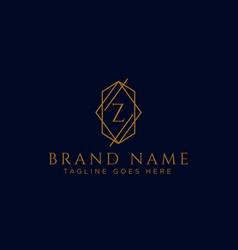 Luxury logotype premium letter z logo with golden vector