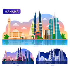 manama beautiful horizontal panoramic view vector image