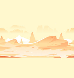 Martian craters game background vector