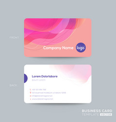 Modern business card membership card club card vector