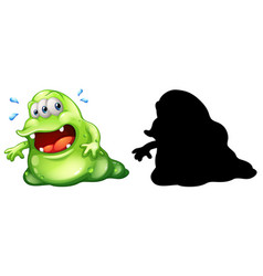 monster with its silhouette on white background vector image