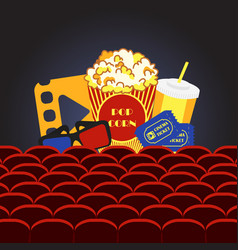 movie cinema hall vector image