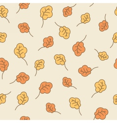 Oak leaves seamless pattern Autumn background vector