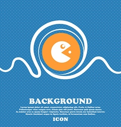 pac man icon sign Blue and white abstract vector image