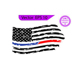 Police and firefighter flag only commercial use vector