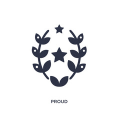 Proud icon on white background simple element vector
