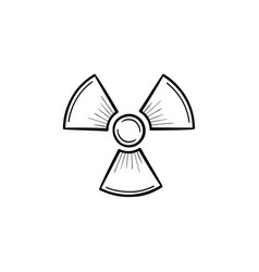 Radioactive sign hand drawn sketch icon vector