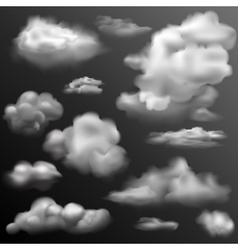 Realistic Cloud for any background vector