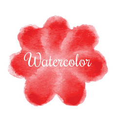 red flower watercolor hand drawn background vector image