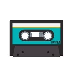 Retro cassette icon vector