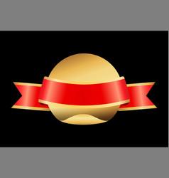 ribbon and circled object vector image