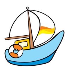 Sailing on sea vector