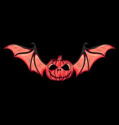 scary funny halloween pumpkins vector image