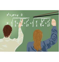 School board and pupils vector