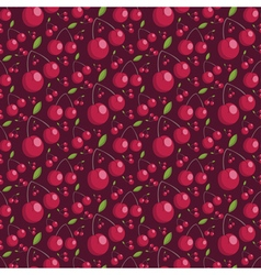 Seamless pattern of juicy cherries vector