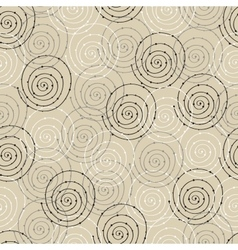 Seamless pattern with spiral circle vector