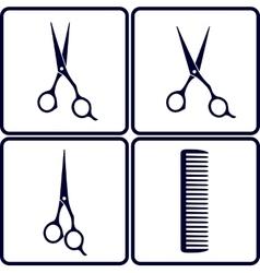 Set of hair salon tools vector