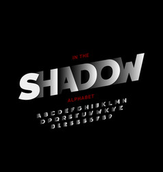 shadow style font vector image