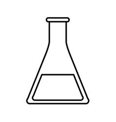 Sketch silhouette image glass beaker for vector