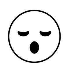 sleepy cartoon face design vector image
