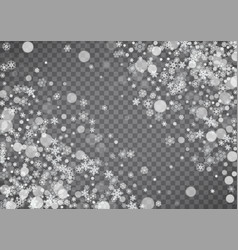 Snowflake border for christmas and new year vector