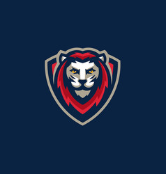 sport lion team gaming template vector image