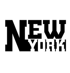 T shirt typography graphic New York vector image