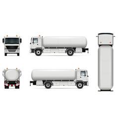 Tanker truck mockup vector