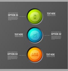 teamwork buttons flowchart background vector image