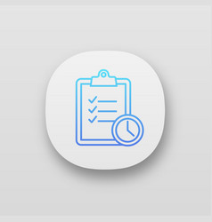 time management app icon vector image