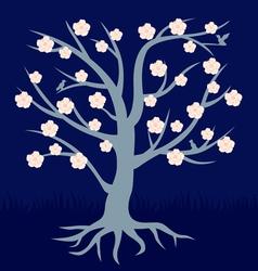 tree flower vector image