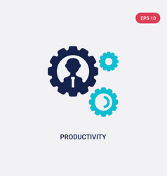 two color productivity icon from digital economy vector image