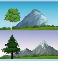 Two different landscapes vector