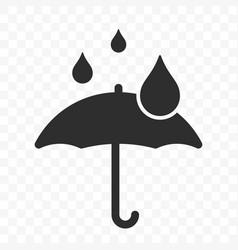 Umbrella icon fragile box warning symbol package vector