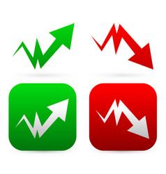 upward downward arrows vector image
