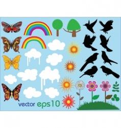 Vector summer set vector