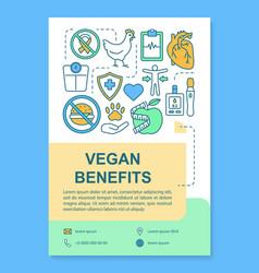 Vegetarianism advantages brochure template layout vector