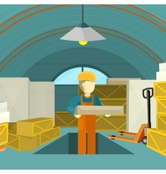 Warehouse Interior Banner vector image vector image