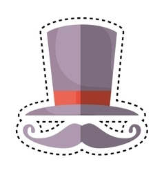 Wizard hat isolated icon vector