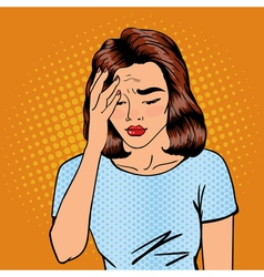 Woman has a Headache Woman Stress Exhausted vector image
