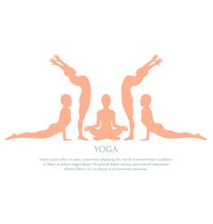 yoga silhouette poster text vector image