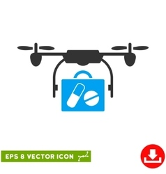 Airdrone Pharmacy Delivery Eps Icon vector image vector image