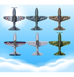 Airplane in military design vector image