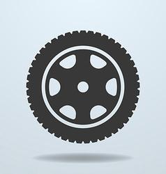 Car wheel icon Car tire rim vector image vector image
