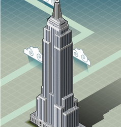 Isometric Empire State Building vector image