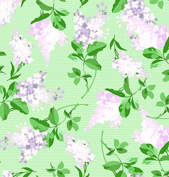 Seamless floral pattern with a branch vector image