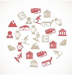 Switzerland symbols vector image