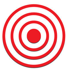 Target icon on white background target sign vector